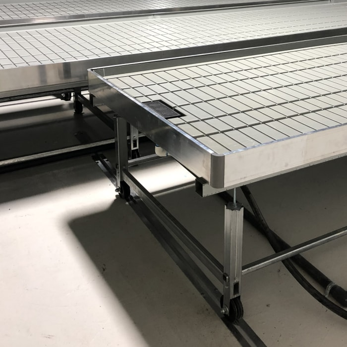 Glider Series Benching Systems at Zwart Systems | Greenhouse Irrigation & Automation Specialists, Beamsville, Ontario