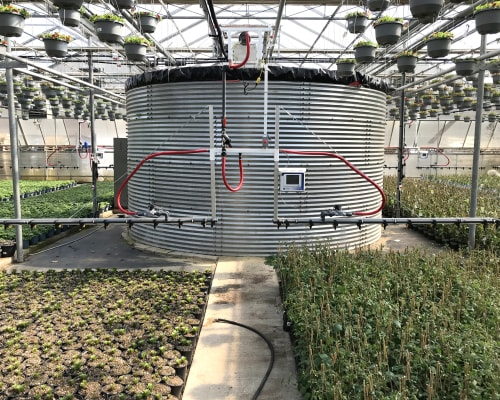 Boom Irrigation at Zwart Systems | Greenhouse Irrigation & Automation Specialists, Beamsville, Ontario