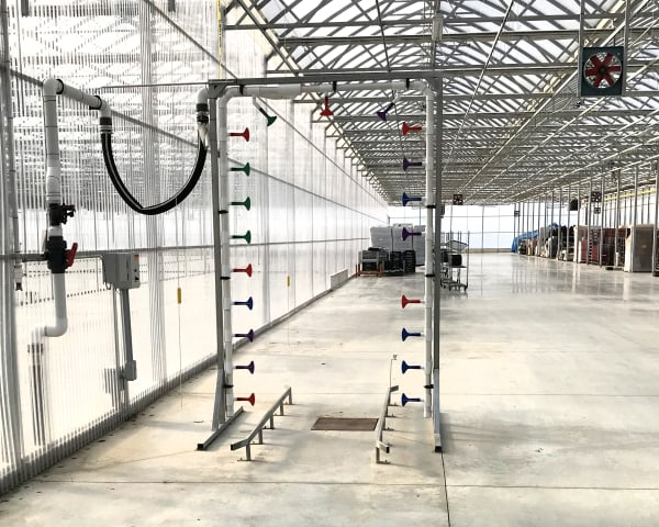 Watering Tunnel Irrigation at Zwart Systems | Greenhouse Irrigation & Automation Specialists, Beamsville, Ontario